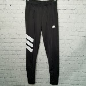 Adidas joggers with 3 stripes on the leg back zip